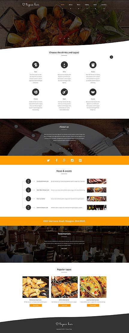 Tapas Bar #website #template. #themes #business #responsive ...