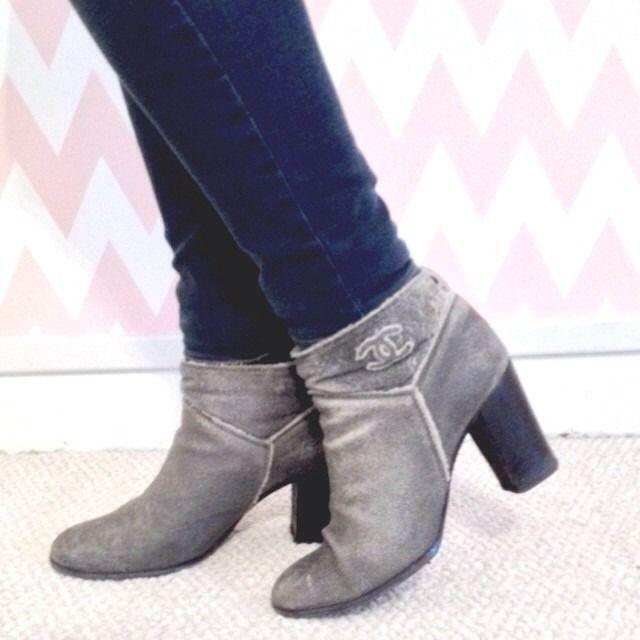 Kick up your heels. {vintage chanel booties}