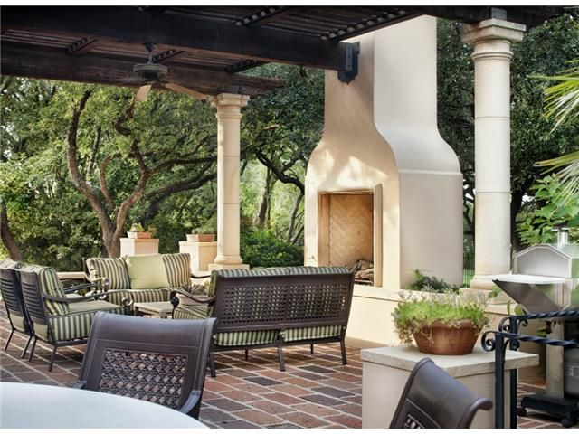 Outdoor Patio With Pergola And Fireplace At 4311 Churchill Downs Dr Austin Tx With Images Patio Outdoor Living Pergola