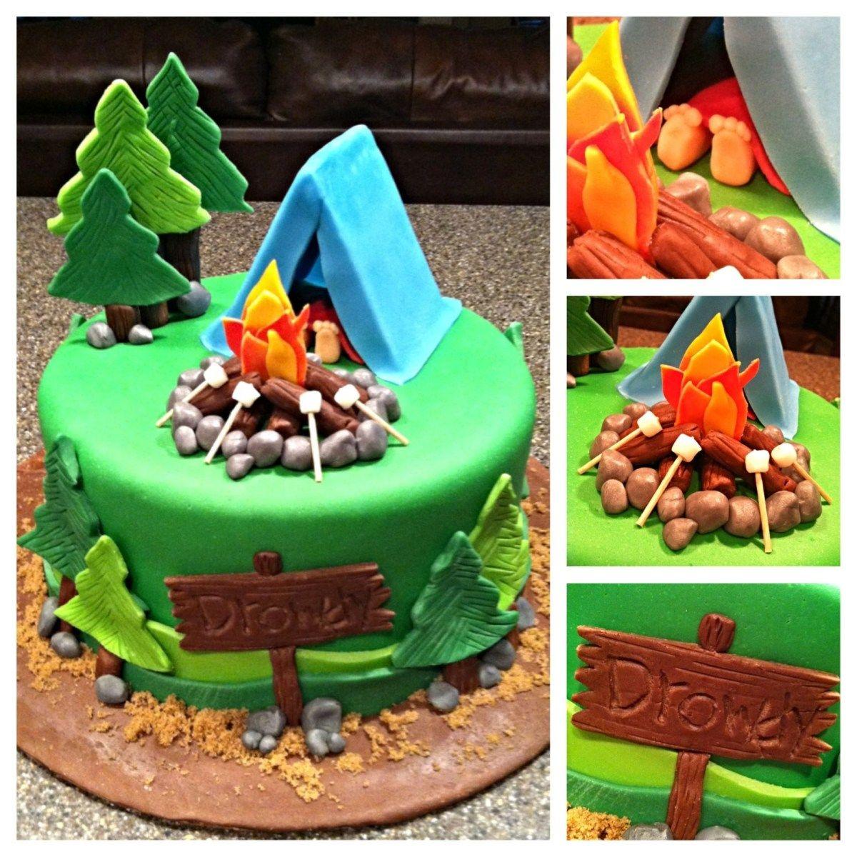 Camping Birthday Cake Camping Cake 7 Cakes Travel Transportation