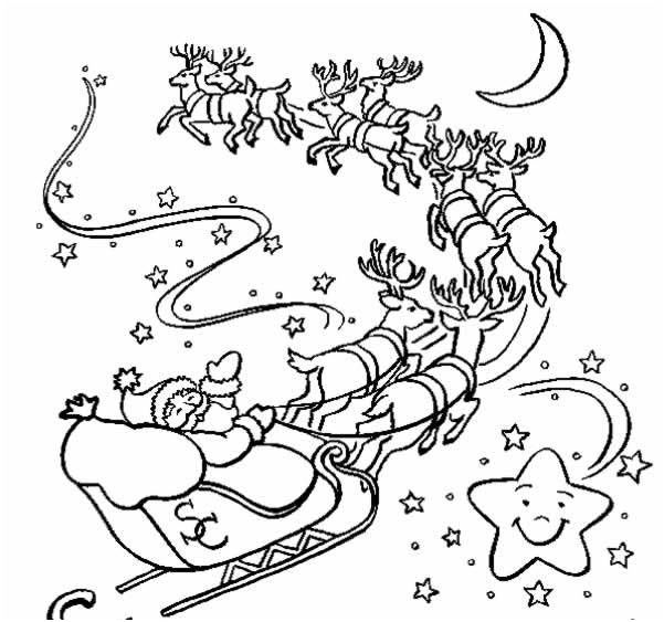 coloriage traineau du pere noel #ColoriagePere | Christmas drawings for kids, Christmas coloring ...
