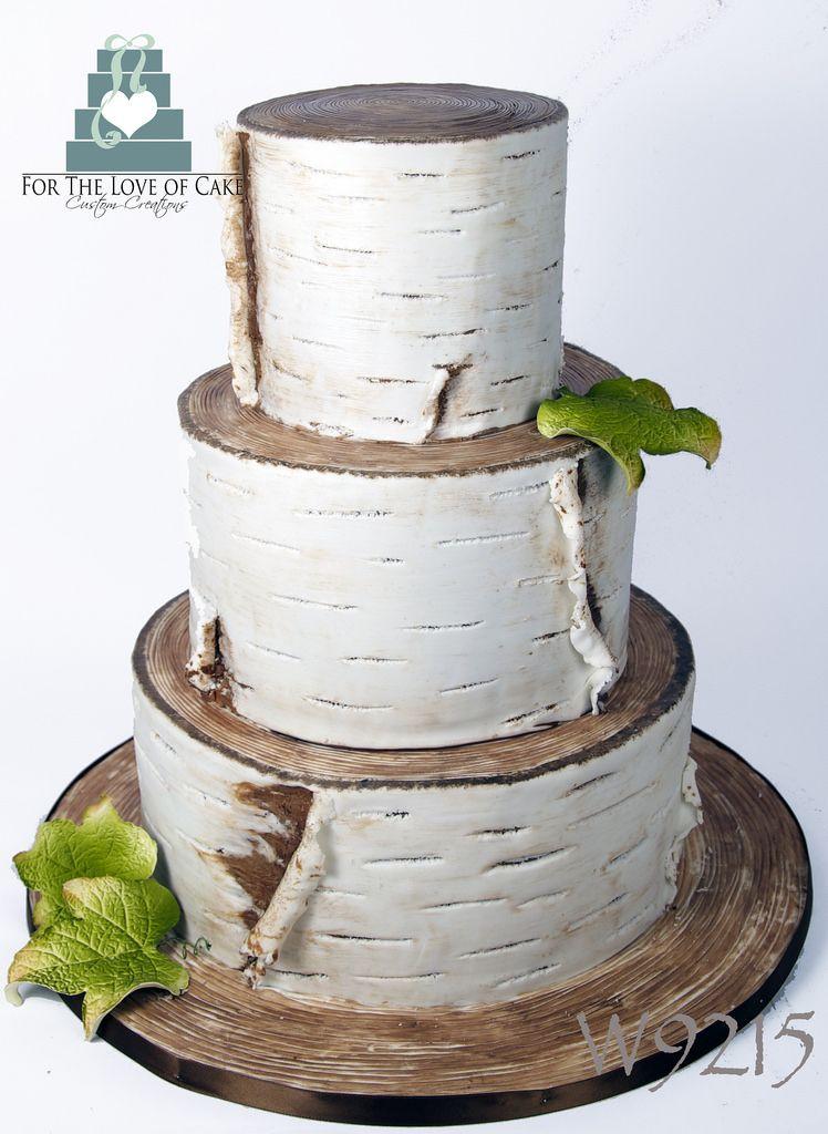 W9215 Birch Bark Wedding Cake Toronto By Www Fortheloveofcake