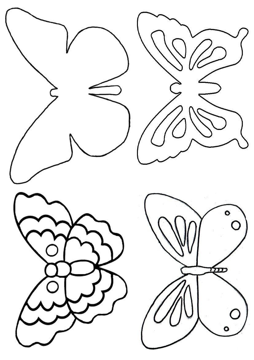butterfly templates lots of sizes | butterfly template | craft ideas