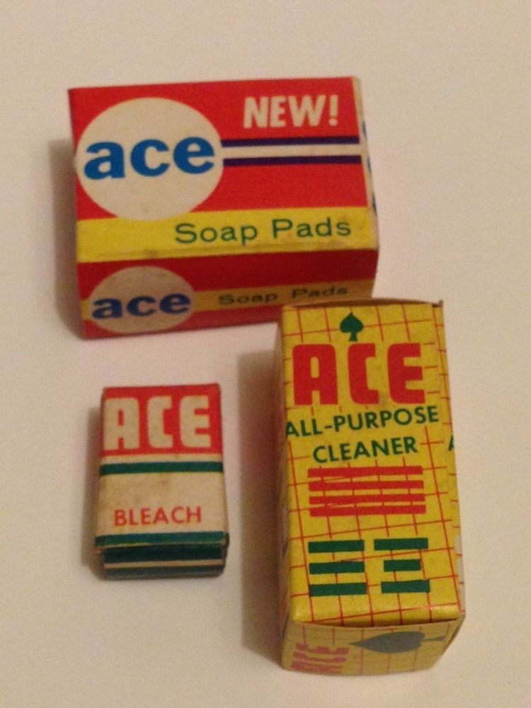 VINTAGE BARBIE 1960s READING DELUXE DREAM KITCHEN ACE BLEACH SOAP PADS CLEANER