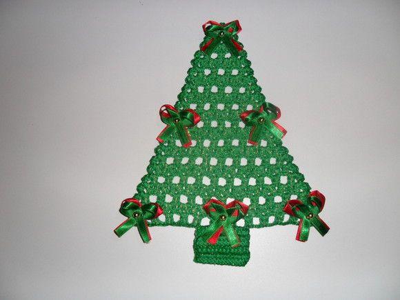 Arvore De Natal Em Croche Com Imagens Arvores De Natal De
