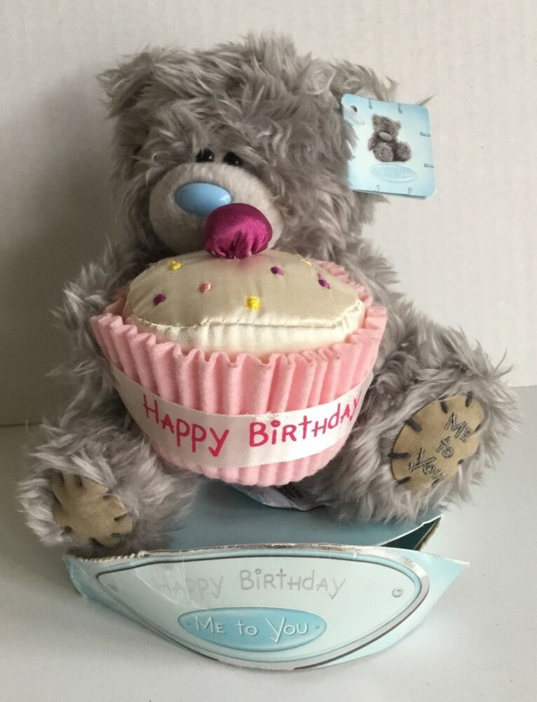 Carte Blanche 3D Holographic Card Happy Birthday Cupcake Up Close