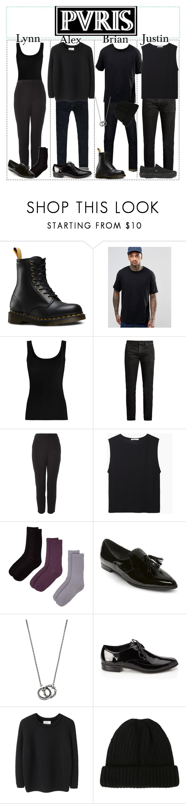 """pvris outfits"" by pvriscvlt ❤ liked on Polyvore featuring Sperry, Dr. Martens, ASOS, Twenty, MasterCraft Union, Topshop, T By Alexander Wang, Hue, Steve Madden and Thomas Sabo"