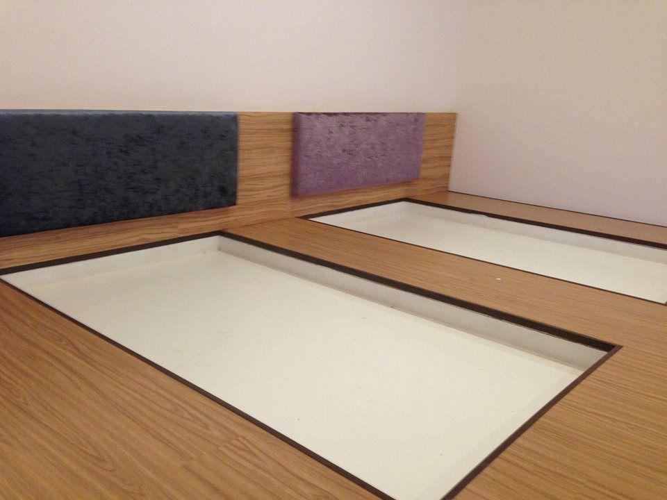 Platform Plywood Vinyl Bedroom Bedframe Cushion