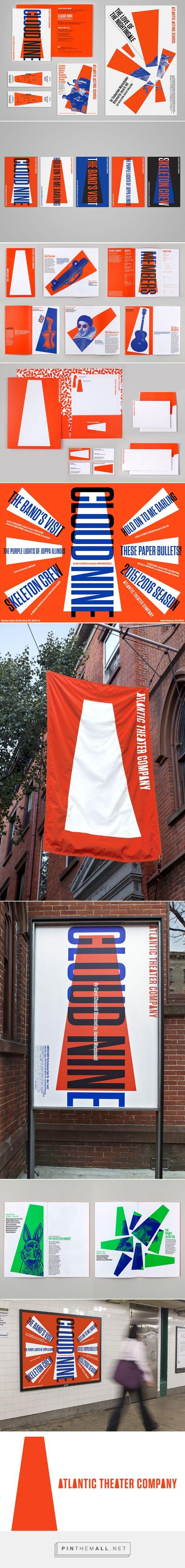 Paula Scher (Pentagram) designs bold new identity for New York's Atlantic Theater Company