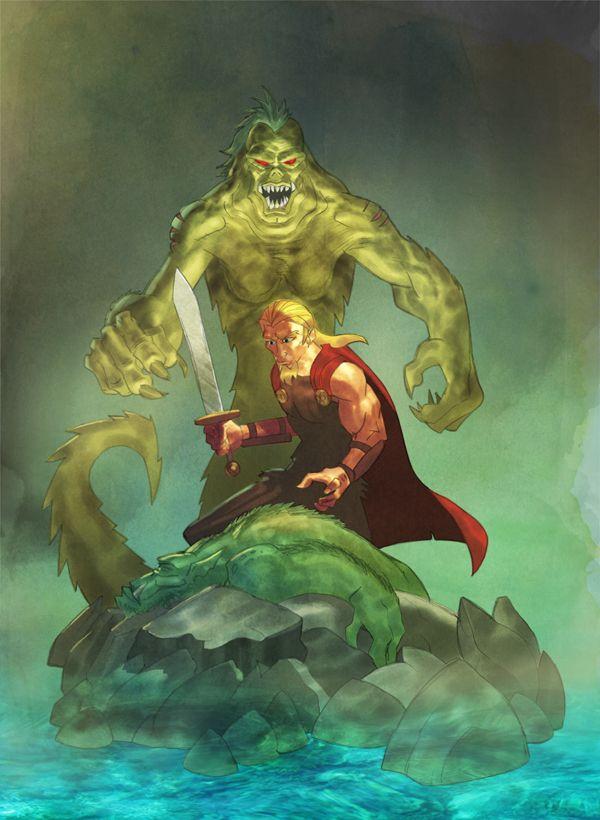 Beowulf vs Grendel's mother by evilfranco on deviantART | The ...