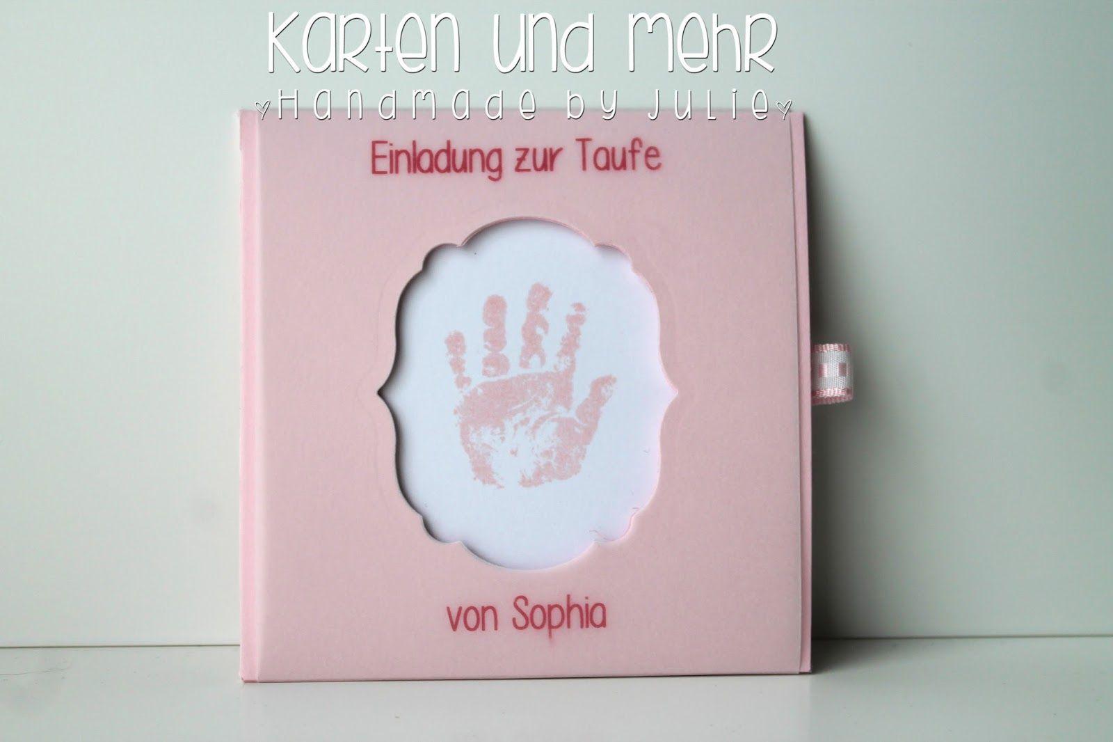 Stampin Up Einladung Zur Taufe Www.handmadebyjulie.de