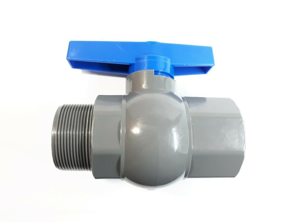 Pvc Ball Valve 2 Inch Npt Half Port Heavy Duty Durable For Irrigation Female Ma Unbranded Irrigation