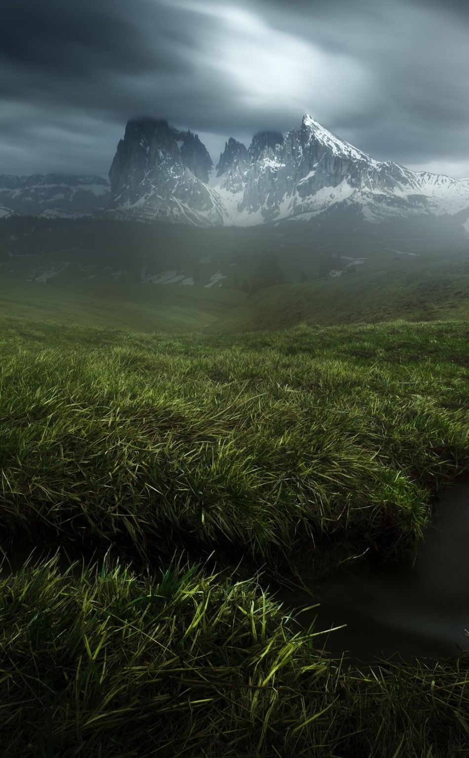 Grass Small Stream Landscape Mountains Wallpaper Beautiful Places Nature Nature Photography Cool Landscapes