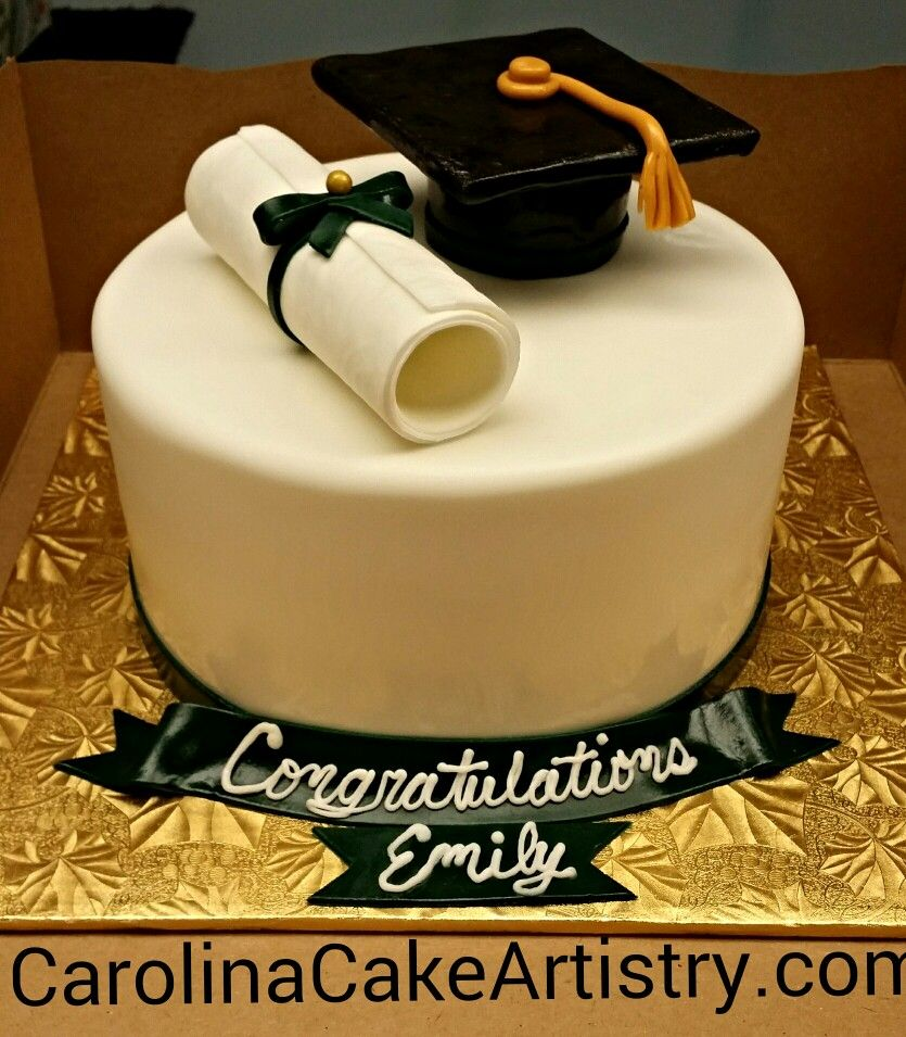 Edible Cake Images For Graduation : Edible Graduation Hat and Diploma Cake! Graduation Cake ...