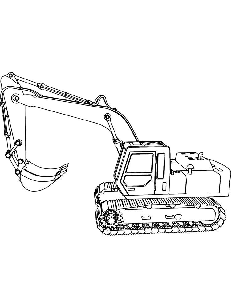 Excavator Coloring Pages Pdf Excavators Are Heavy Equipment Consisting Of Arms Booms Shoulde Coloring Pages To Print Coloring Pages Printable Coloring Pages