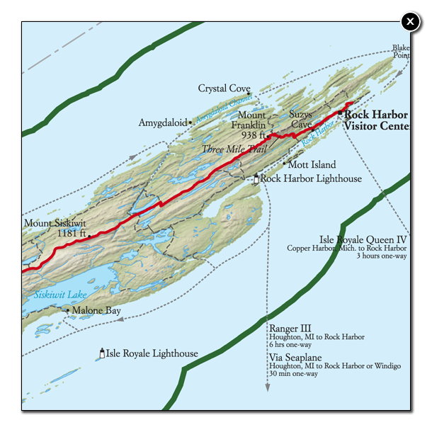 Best Isle Royale National Park Hike Trail Map National