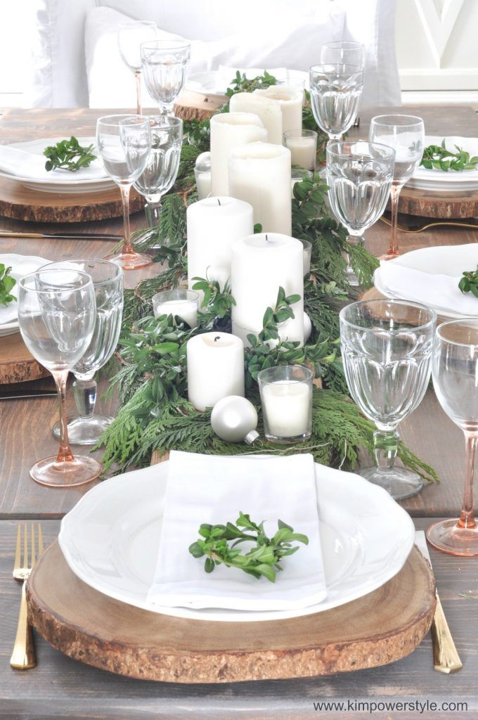 A rustic christmas table setting setting thetable - Modern christmas table settings ideas ...