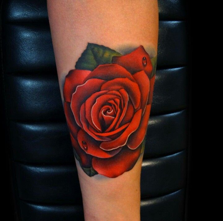 Color Realism Rose Tattoo By Andres Acosta Tattoos Rose Tattoo Forearm Tattoos
