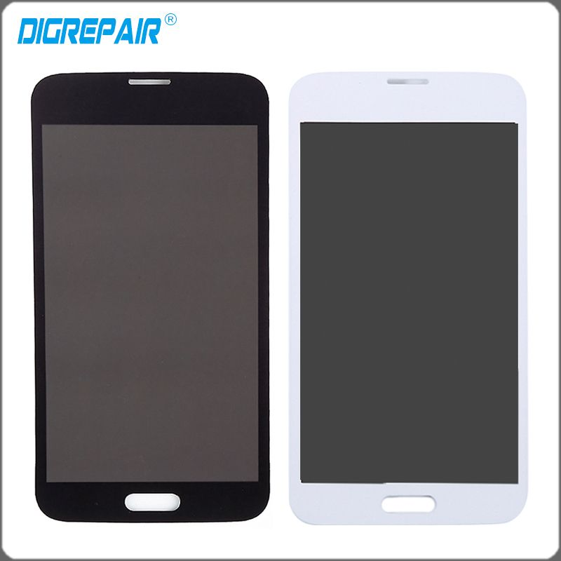 White Black For Samsung Galaxy S5 G900A G900F G900P G900T G900V LCD Display Touch Screen Digitizer Full Assembly Free Shipping #Affiliate
