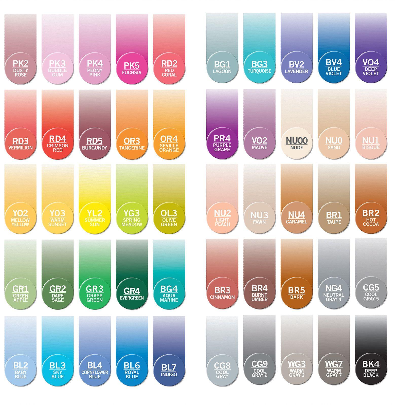 Blue Colour Tones Chameleon Color Tones 5 Pen Set Alcohol Blending Gradient