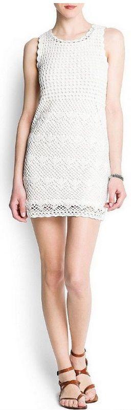 Узор для ажурного платья крючком | вязание крючком | Pinterest ...