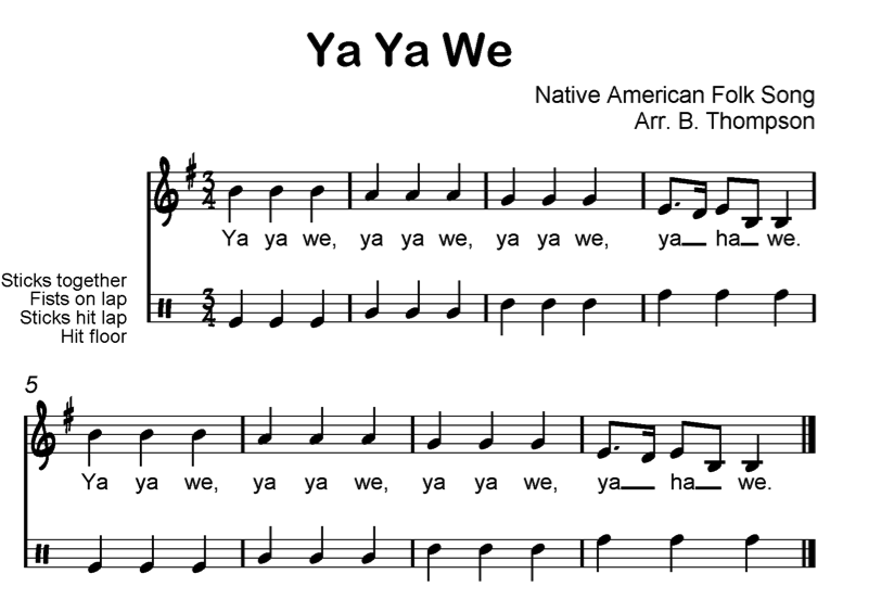 Beth's Music Notes: Meter in 3 Native American song for 3rd