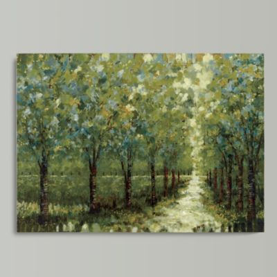 Spring Walkway Stretched Canvas | Ballard Designs & Spring Walkway Stretched Canvas | Ballard Designs | Abstract Art ...
