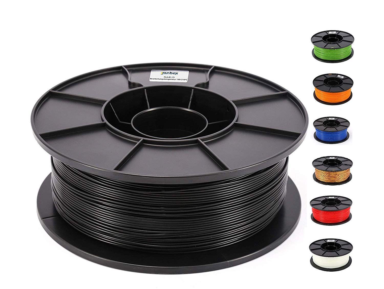 JANBEX PLA Filament 1,75 mm 1kg Rolle für 3D Drucker oder