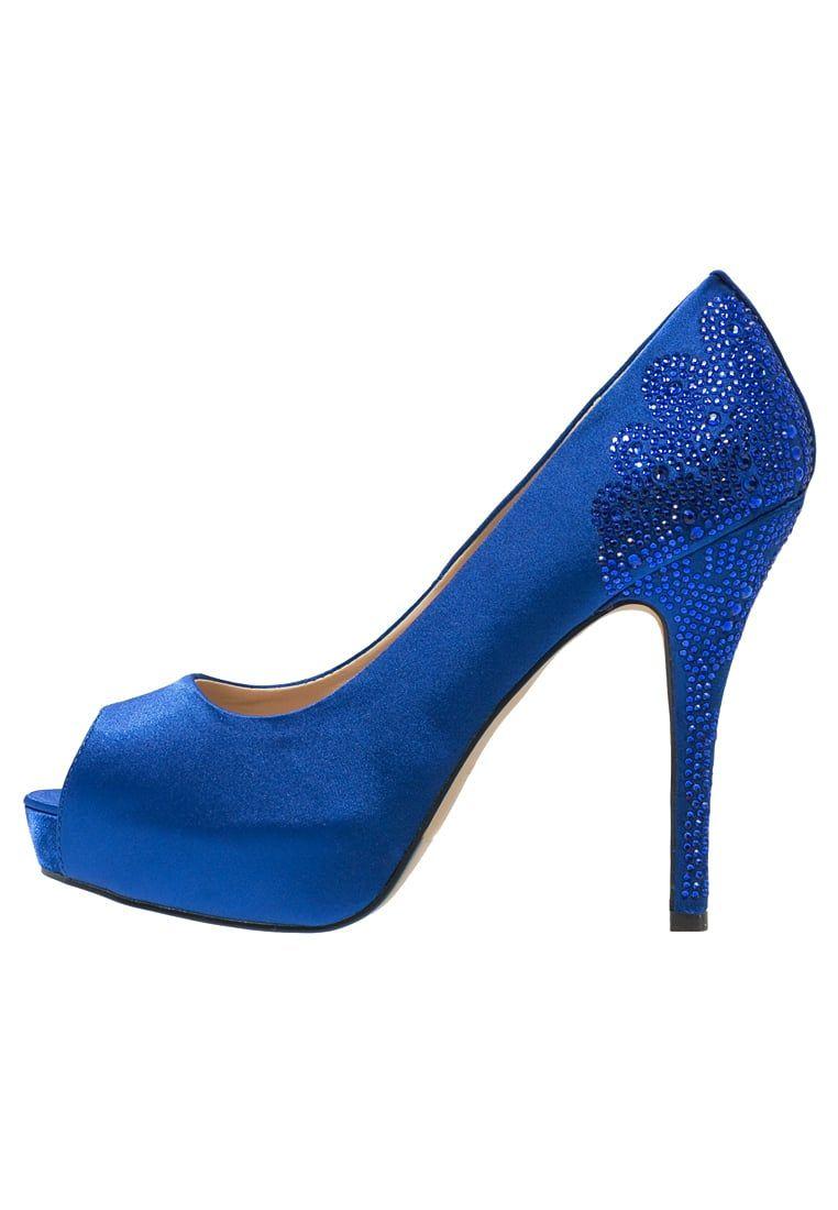 Paco Mena Sanco Peep Toe Dazzling Blue Zalando Pl Peep Toe Peeps Blue