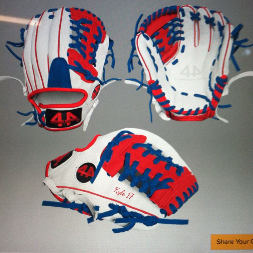 Custom 44 pro glove | Anything | Baseball gear, Baseball ...