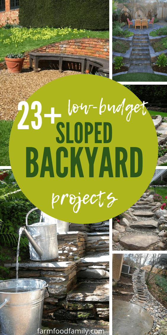 50+ Best Sloped Backyard Landscaping Ideas & Designs On A ... on Small Sloped Backyard Ideas On A Budget id=17097