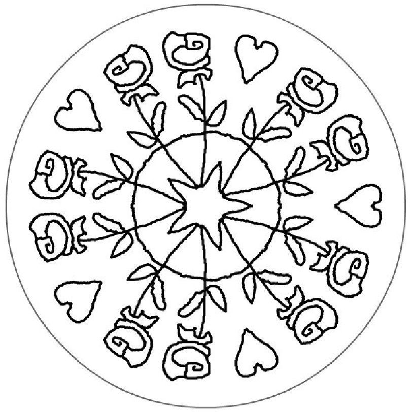 Mandala de Sant Jordi | Sant Jordi | Mandalas for kids, Mandala