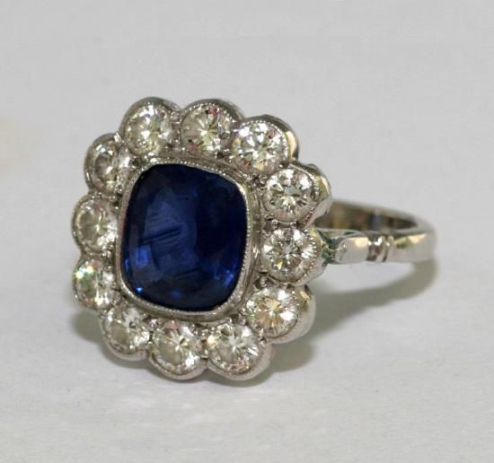 Engagement Ring Antique Sapphire 19