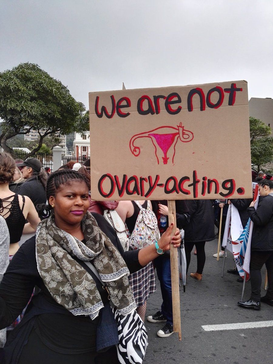 Best sign at a women's march in South Africa pics