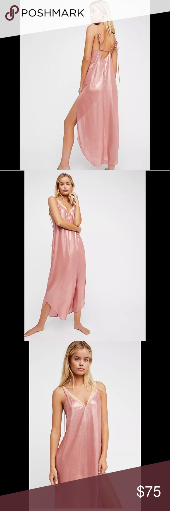 93289407d796 Free People Anytime Shine Slip Small NWT Free People Anytime Shine Slip  Small NWT Rose Gold