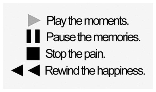 Know when to play, pause, stop and rewind.