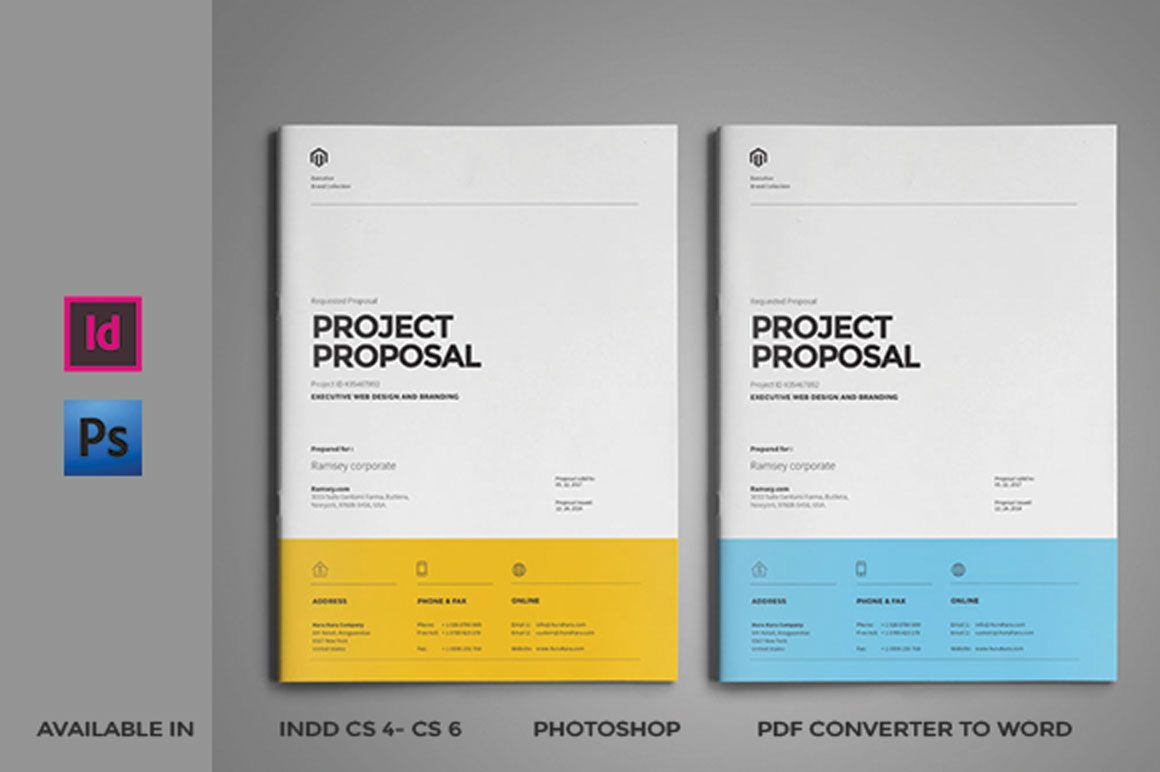 Proposal Template By Fahmie On Creativemarket  Proposals