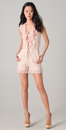 ALICE by Temperley Surya Lace Romper--look at that, it's even on an asian model.