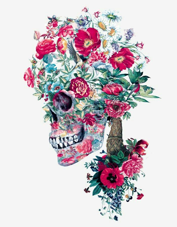 Floral Skull | Anatomy | Pinterest | Floral skull, Floral and Wallpaper