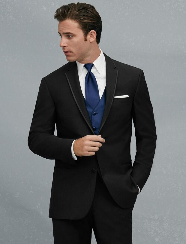 Click to Buy << New Arrival Two Buttons Black Groom Tuxedos ...