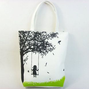Cute design! Free shipping 2013 hot swing girl canvas bag eco friendly bag 12 square meter women's handbag print bag-inOthers from Luggage & Bags on Aliexpress.com