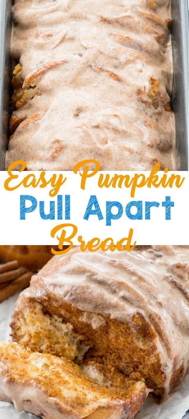 Pumpkin pull-apart loaf is a flaky breakfast danish that you bake up easily, using refrigerated biscuit dough and pumpkin puree. It's an easy brunch recipe, but it also makes the perfect snack or easy pumpkin dessert recipe! #pumpkin #pullapart #recipe #easy #pumpkinrecipes