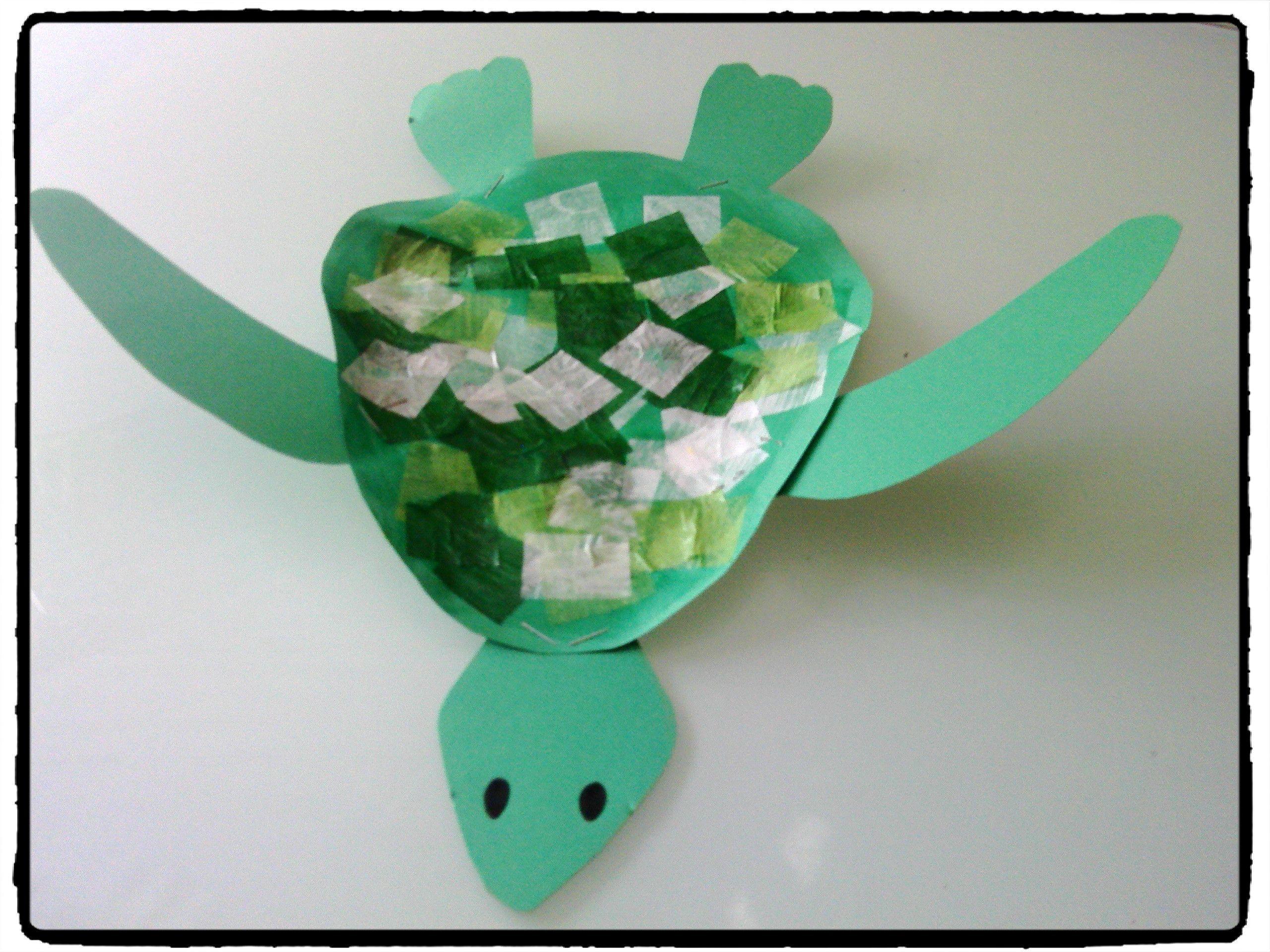 bricolage tortue de mer activité enfant été plage