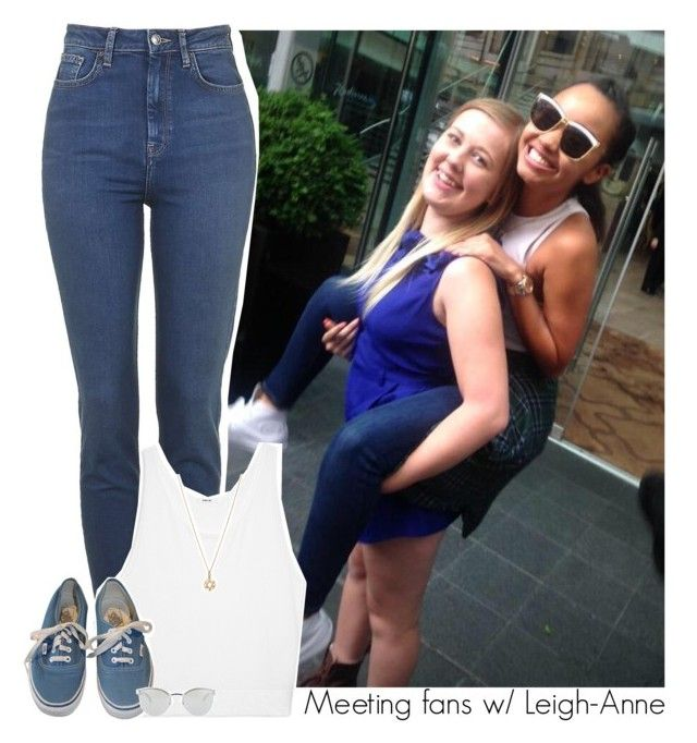 """""""Meeting fans w/ Leigh-Anne"""" by amberamelia-123 ❤ liked on Polyvore featuring Topshop, Helmut Lang, Vans, Bianca Pratt and Fendi"""