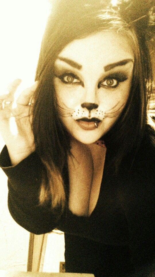 My kitty Halloween makeup <3