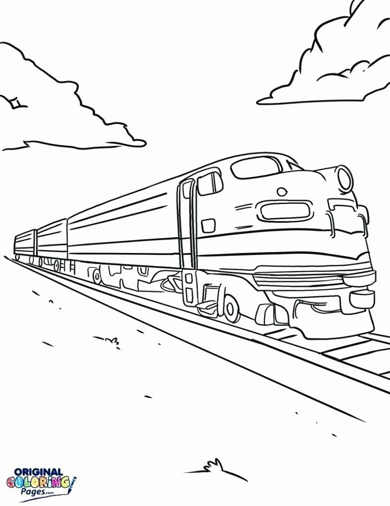 Train Coloring Pages For Preschoolers