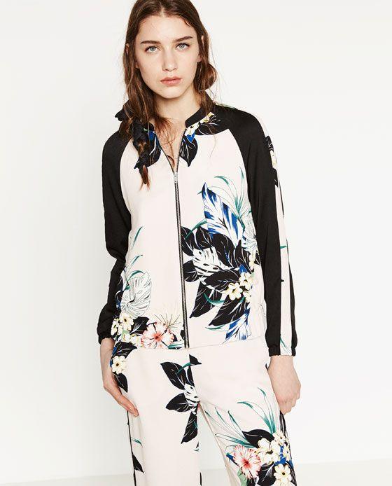 Zara floral jacket