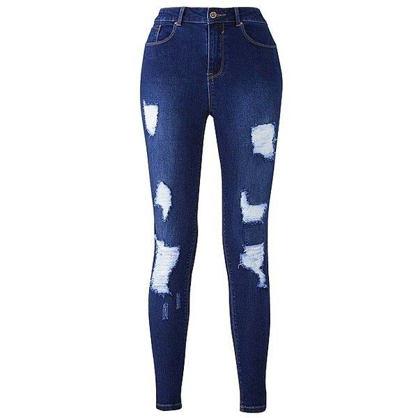 de51b77f01 Chloe Distressed Skinny Jean   SimplyBe US Site ($49) ❤ liked on ...