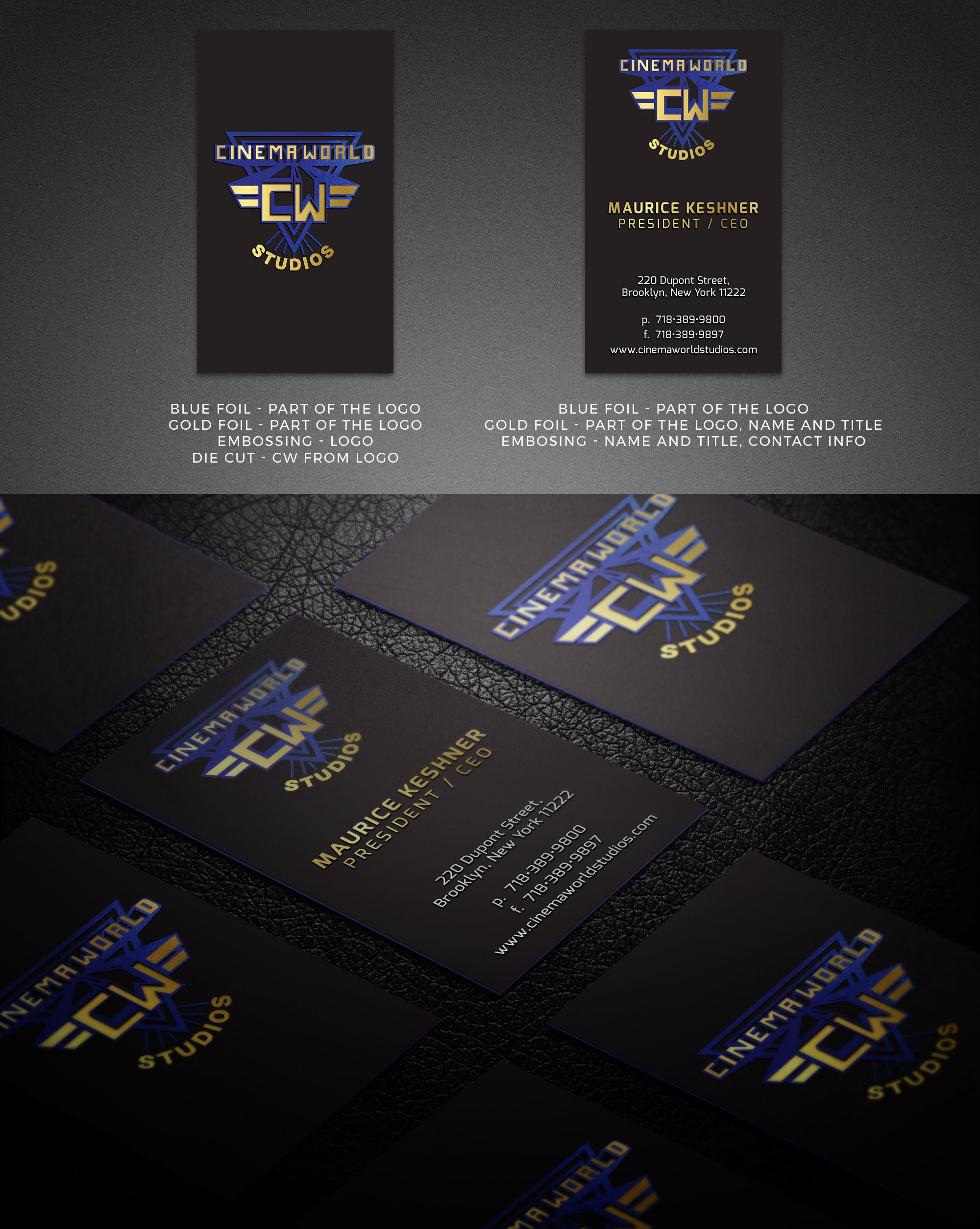 This Is An Ultra Thick Three Layered Professional Business Card