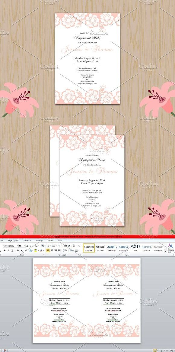 Engagement Invite Templates Inspiration Engagement Party Invitation Template  Party Invitation Templates .